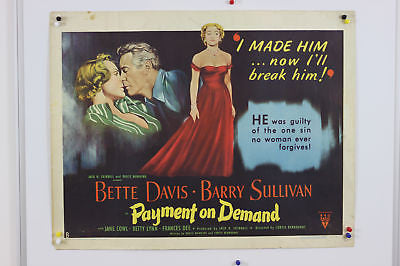 Bette Davis Payment On Demand Original Movie Poster