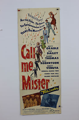 Betty Grable Call Me Mister Original Movie Poster 1950