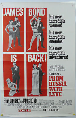 James Bond From Russia  With Love Original Movie Poster