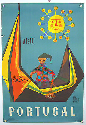 Visit Portugal Original Vintage Travel Poster 1953