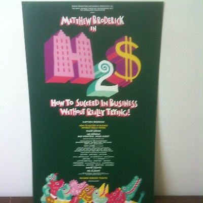 How To Succed In Business Broadway Poster