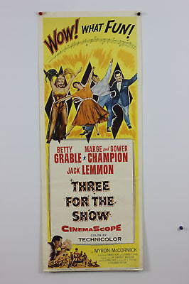 Betty Grable Three For The Show Original Movie Poster