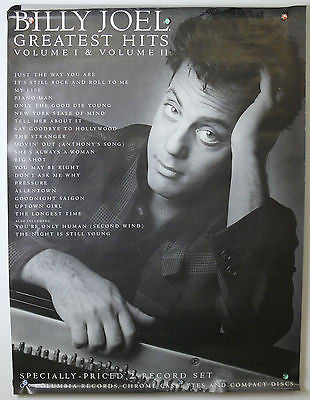 Billy Joel Greatest Hits  Music Promo Poster 1985