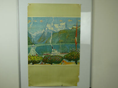 Swiss Central Original Vintage Travel Poster 1945