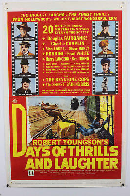 Days of Thrills & Laughter Original Movie Poster 27x41