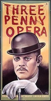 Threepenny Three Penny Opera Original Theater Poster by Paul Davis