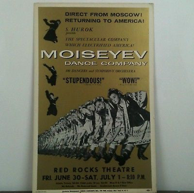 Moiseyev Dance Company Returning To America Poster
