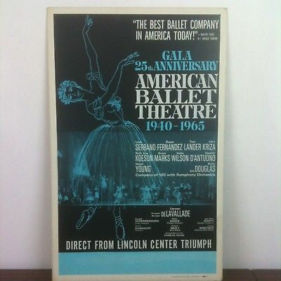 American Ballet Theater Original Vintage Poster