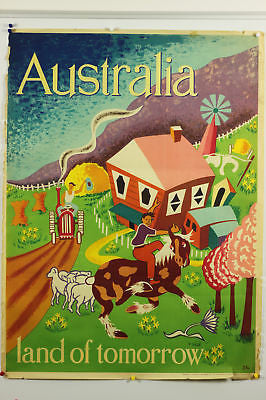 Australia Tomorrow Original Vintage Travel Poster 1949