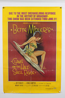 Bette Midler Clams on the Half Shell Original Poster