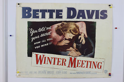 Bette Davis Winter Meeting Original Movie Poster 1948