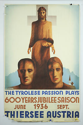 Austria Tyrolese Passion Play Original Vintage  Poster