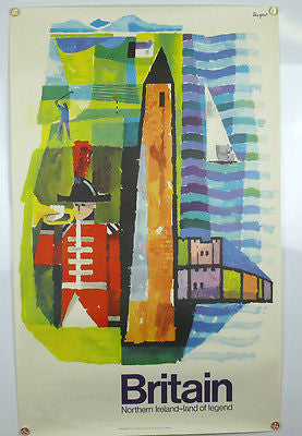 Britain Northern Ireland Original Vintage Travel Poster 1968 artist Unger