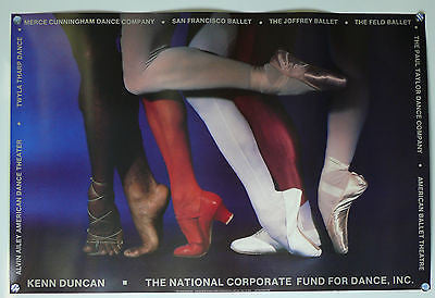 National Corporate Fund For Dance Ballet Poster 1984 Alvin Ailey, Twyla Tharp