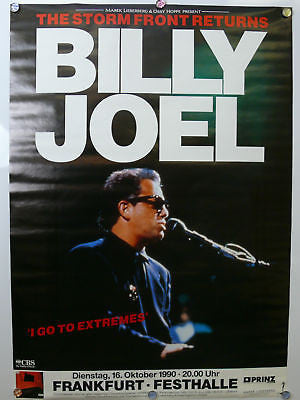 Billy Joel Original Concert Poster 1990