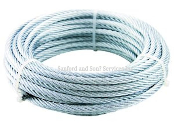 7 x 19 Galvanized Aircraft Cable Wire Rope  - Choose Length