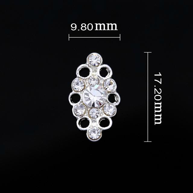 Large Oval Crystal Cluster Nail Jewellery