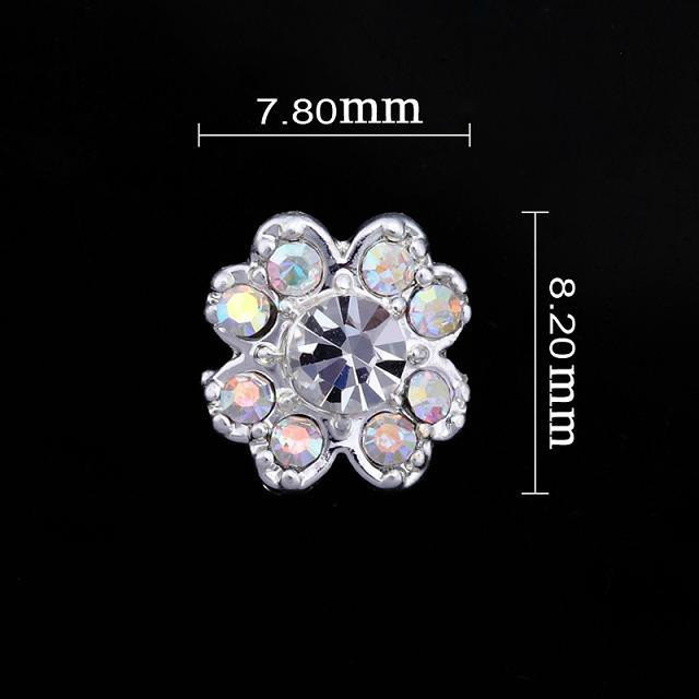 Small Iridescent Flower Nail Jewellery