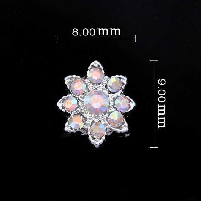 Small Magic Crystal Flower Nail Jewellery