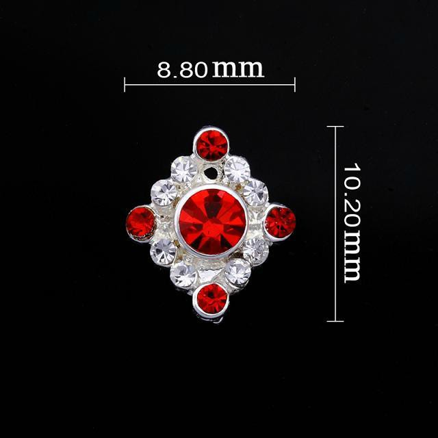 Medium Red Diamond Nail Jewellery