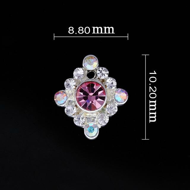 Small Pink Diamond Nail Jewellery