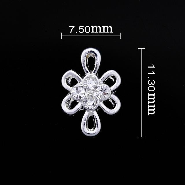 Small Crystal Flower Nail Jewllery