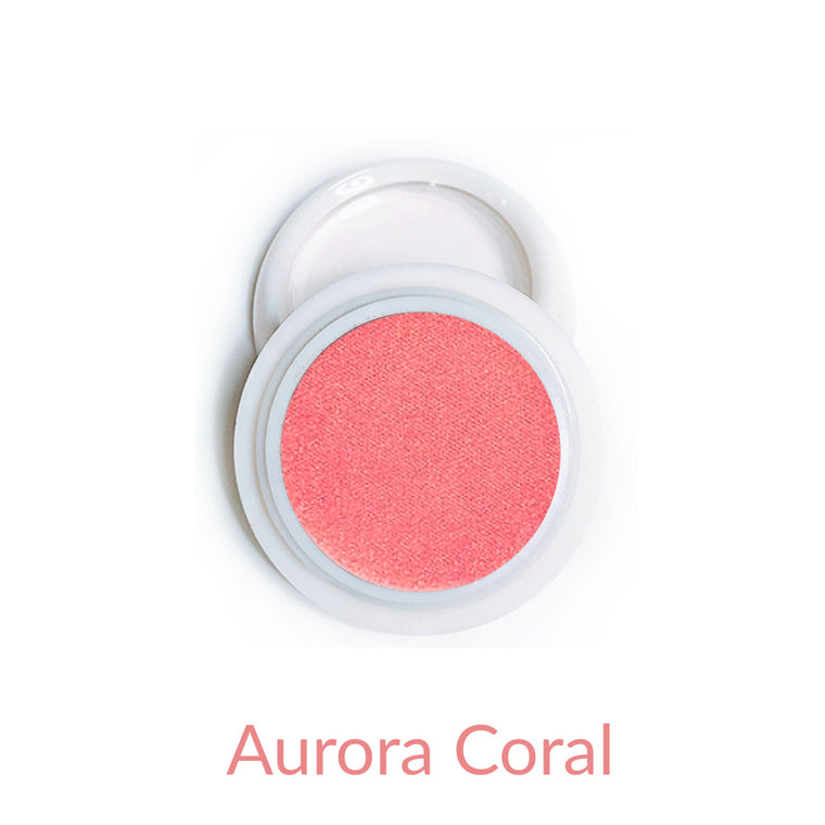 Candy Compact Chrome Powder - Aurora Coral