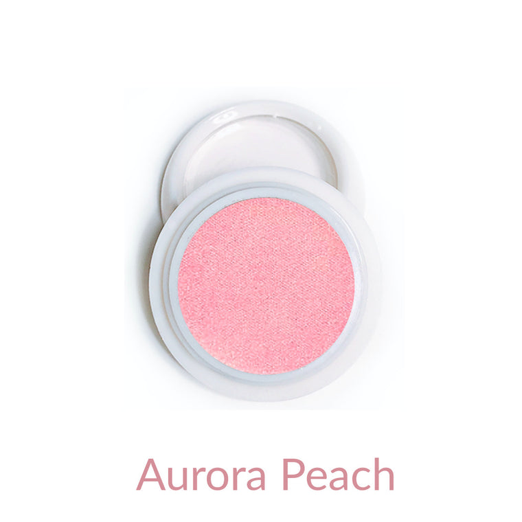 Candy Compact Chrome Powder - Aurora Peach
