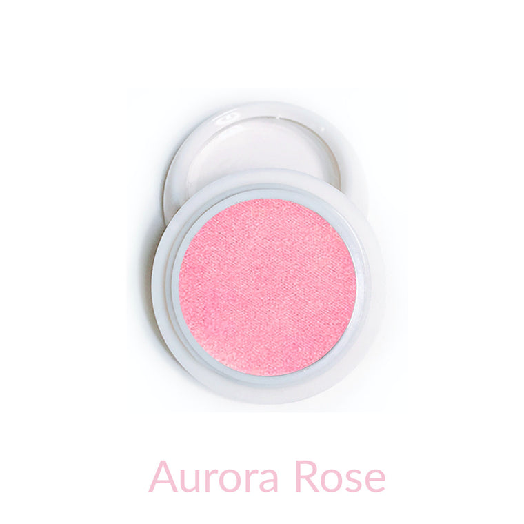 Candy Compact Chrome Powder - Aurora Rose