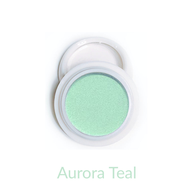 Candy Compact Chrome Powder - Aurora Teal