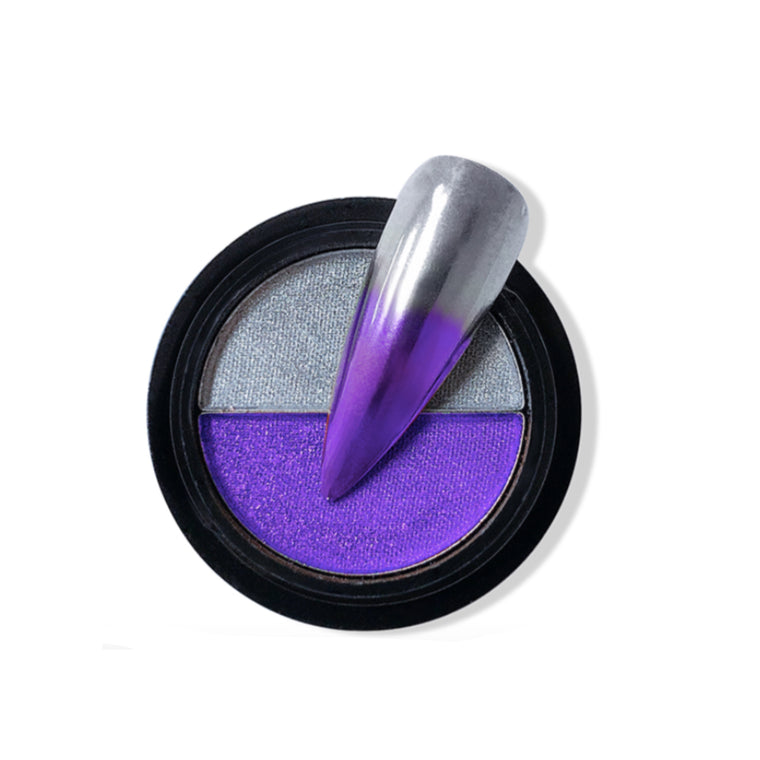 Duo Compact Chrome Powder - Tanzanite & Silver