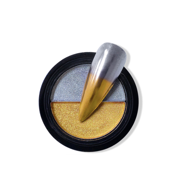 Duo Compact Chrome Powder - Bright Gold & Silver