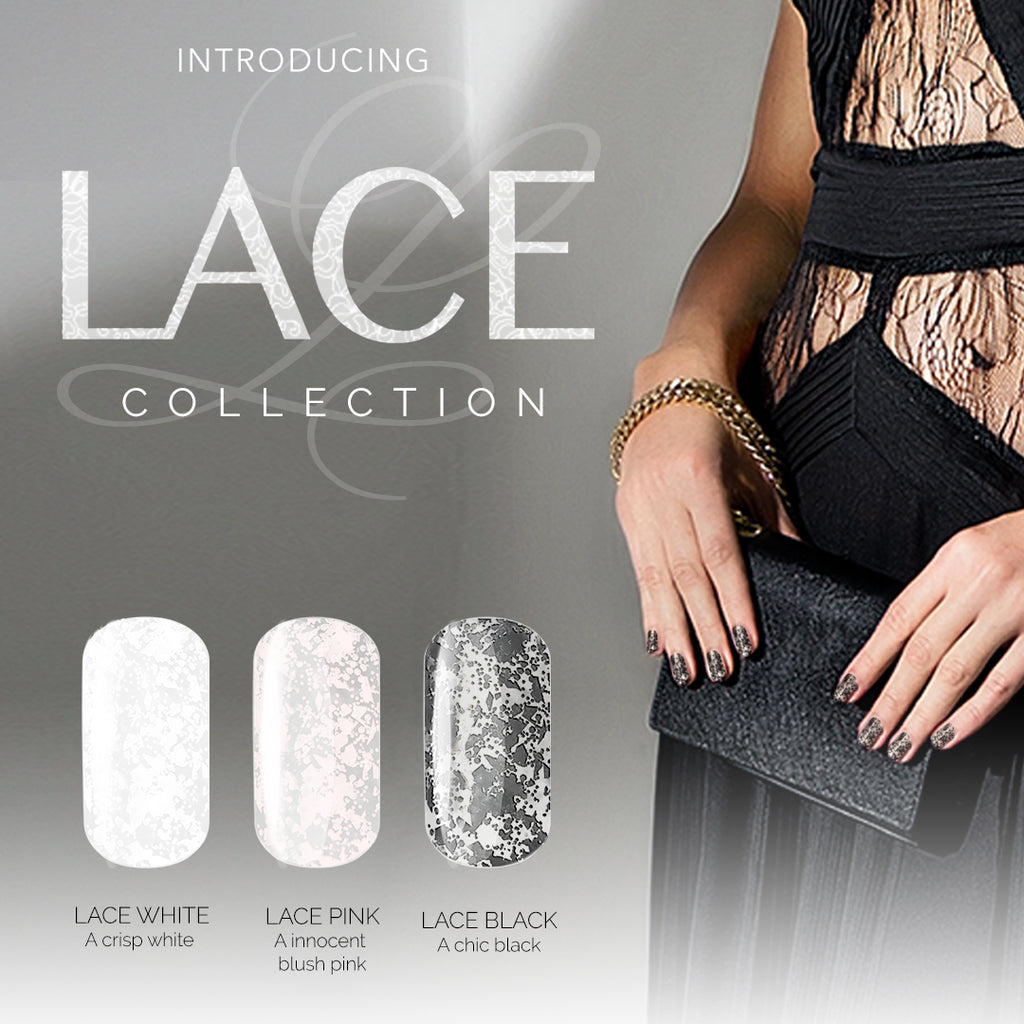 Gel Play Lace Effect - Black