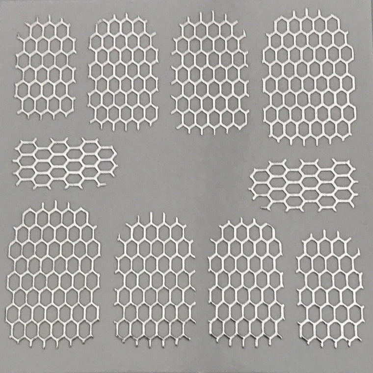 HD Nail Art Metallic Stickers Silver