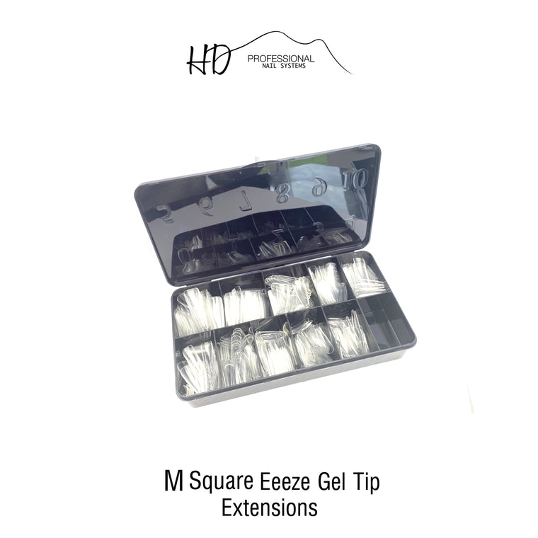*NEW* HD Eeeze Gel Nail Tips - Medium Square