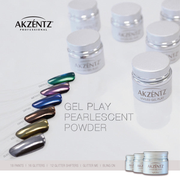 Gel play Pearlescent Chrome Powder - Full Collection