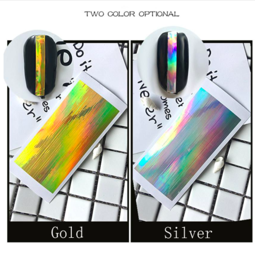 Silver or gold Sticker Line Tape