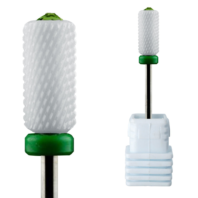*New* Ceramic Barrel Bit - Green Crystal - C