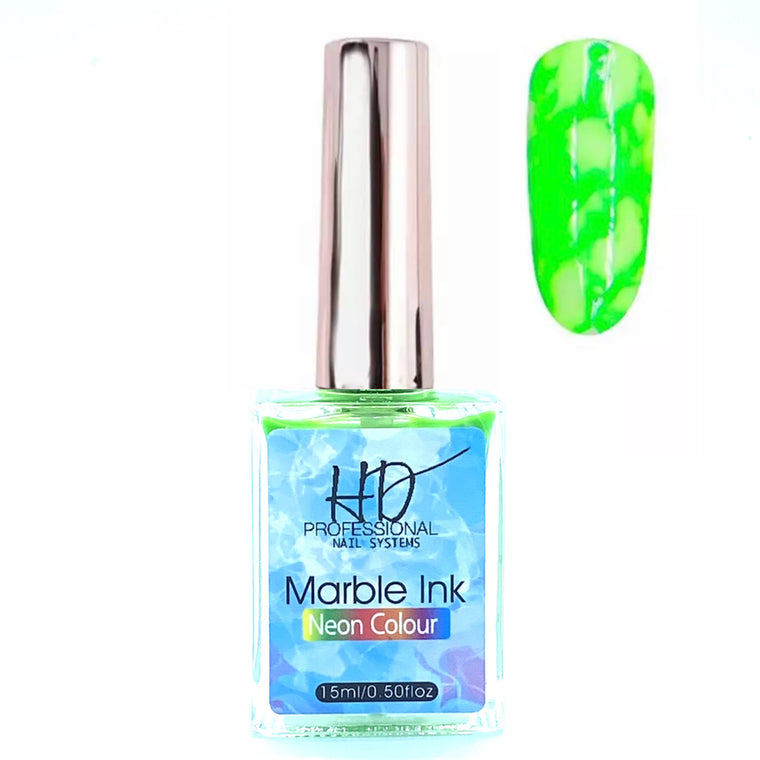 *NEW* HD Marble Ink - Neon Green