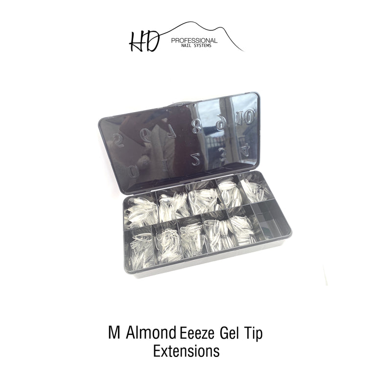 *NEW* HD Eeeze Gel Nail Tips - Medium Almond