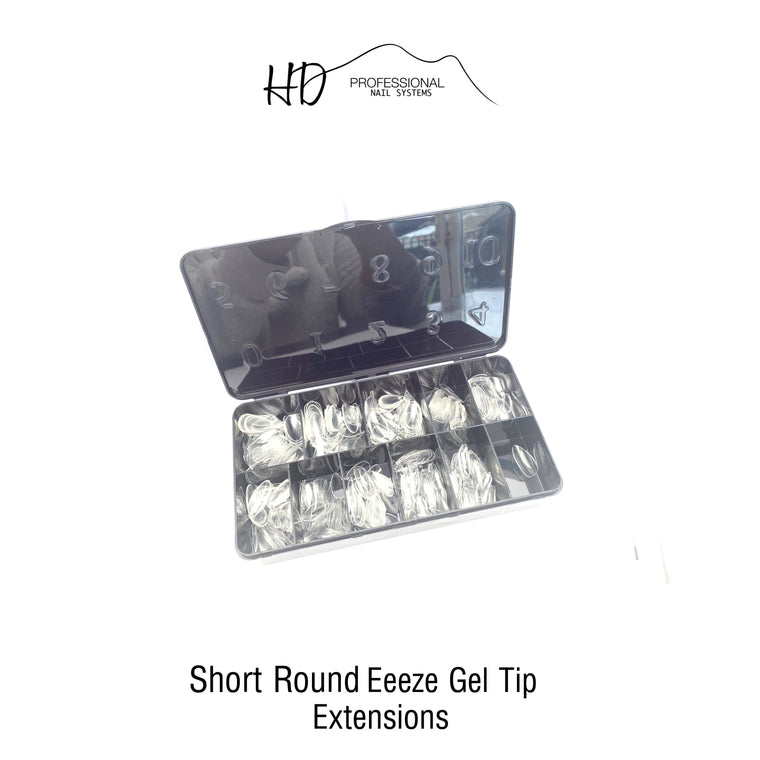 *NEW* HD Eeeze Gel Nail Tips - Short Round