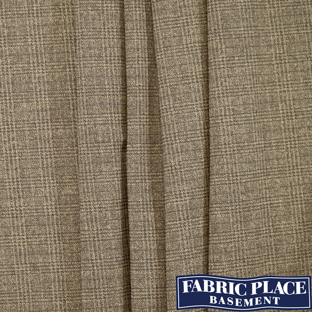Plaid Suit Wool - Beige