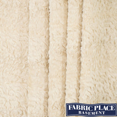 Faux Fur - Two Tone Cream