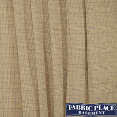Plaid Suit Wool - Tan