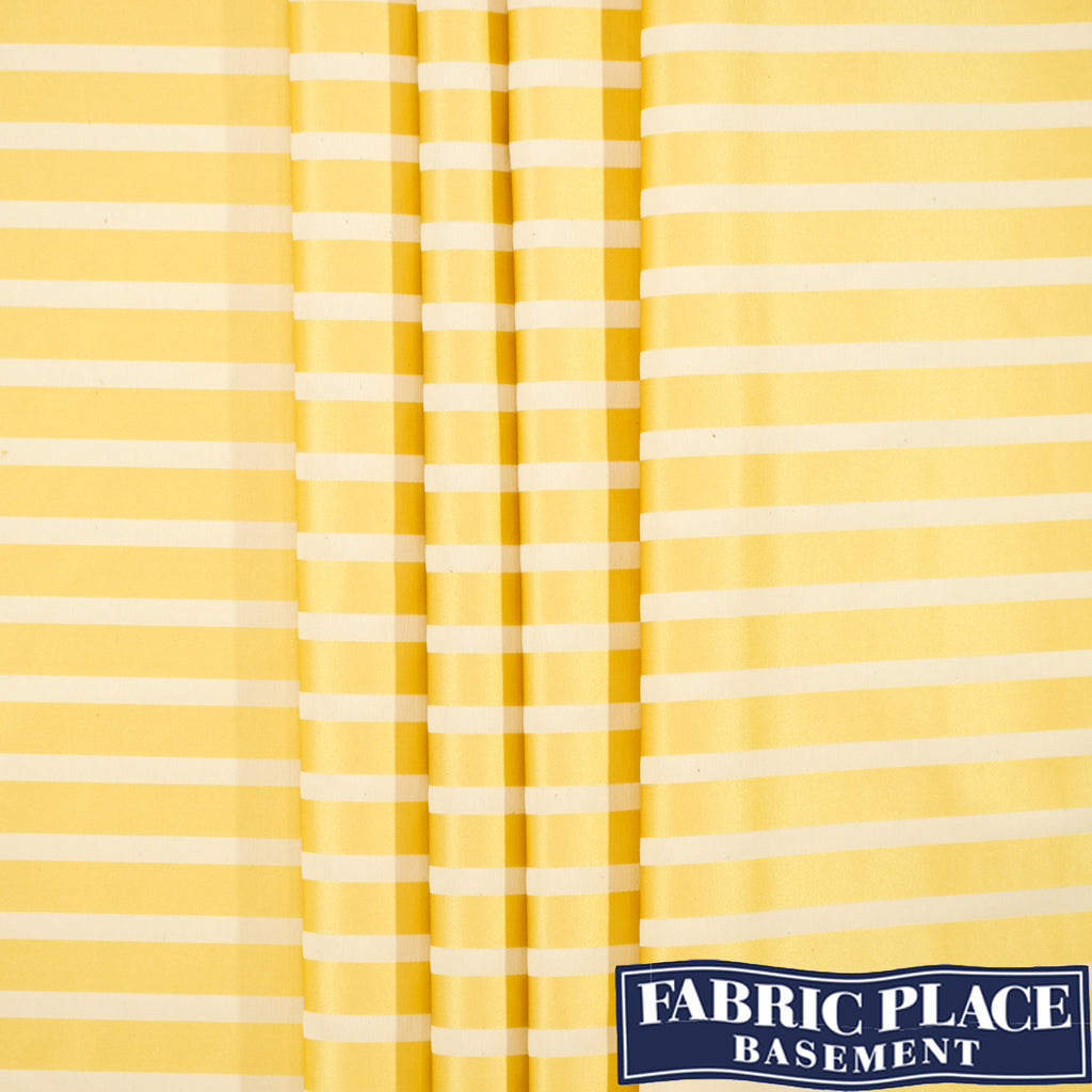Satin Stripes - Lemon