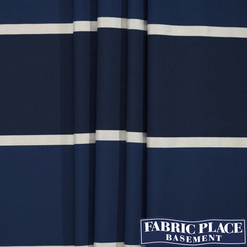 Henley Stripe - China Blue