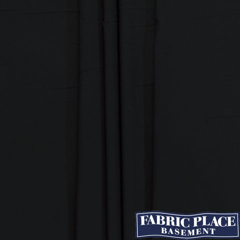 Polyester Stretch Suiting - Black