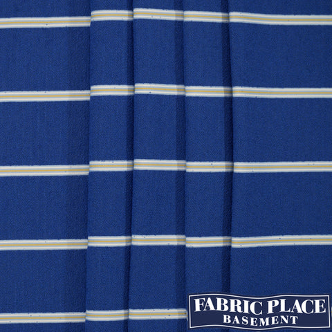 Long Beach Stripe - Atlantic Blue