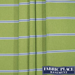 Long Beach Stripe - Maritime Green