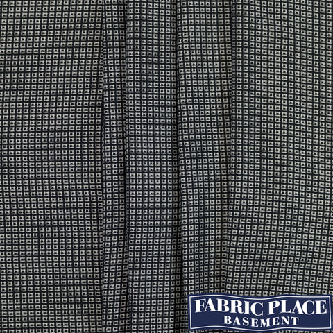 Black/White Checkered Jacquard